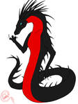 Red Belly Black Snake - Naga