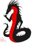 Red Belly Black Snake - Naga