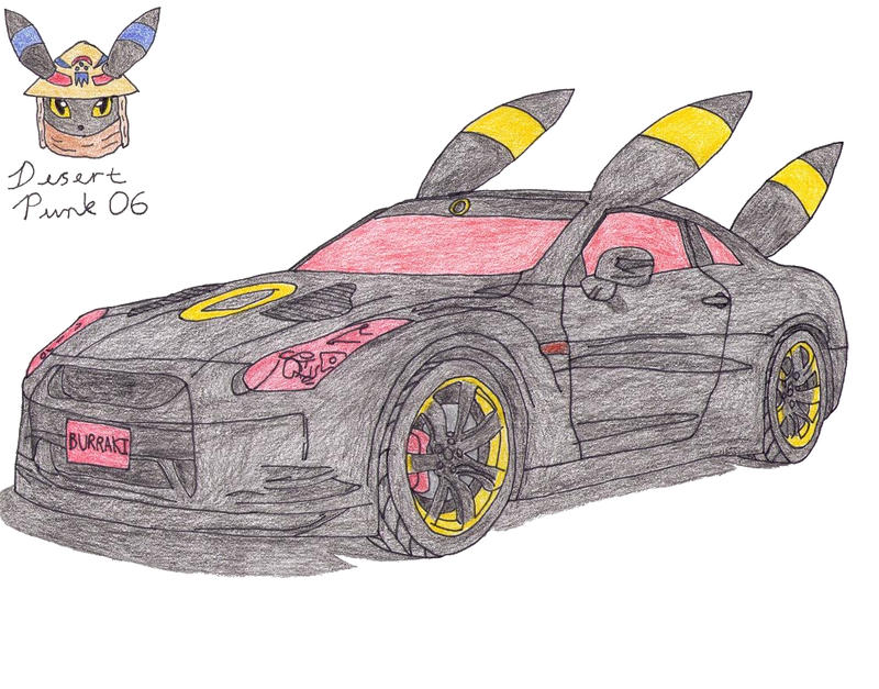 how to draw a nissan gtr easy