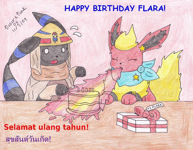 Happy Bithday Flara by Sir-Genesis