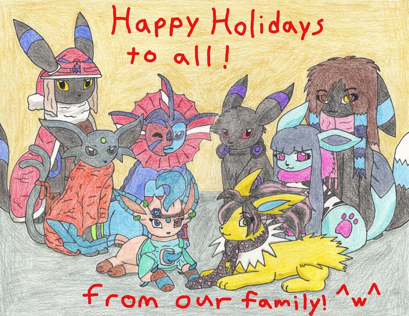 Christmas Family Portrait by Sir-Genesis