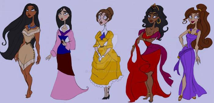Disney Princesses - Burtonized