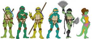 Ninja turtles line up