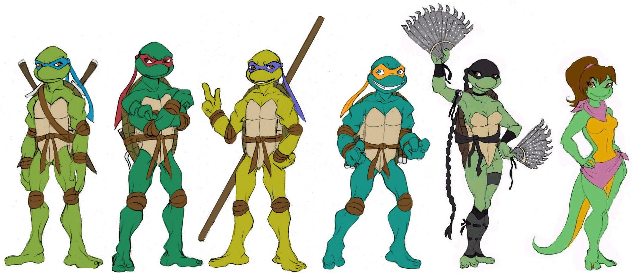 Line Art Ninja Turtles : Ninja turtles line up by lily pily on deviantart