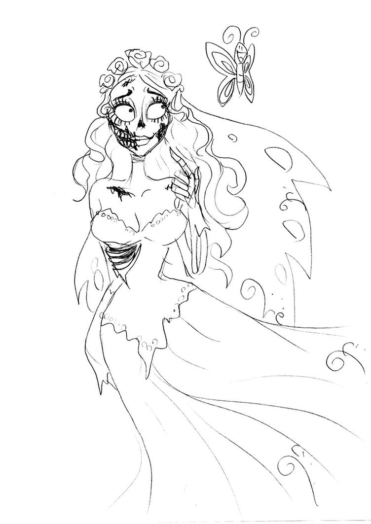 Uncategorized Corpse Bride Coloring Pages corpse bride ugly butterfly by lily pily on deviantart pily