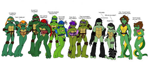 Battle of the sexes TMNT by Lily-pily