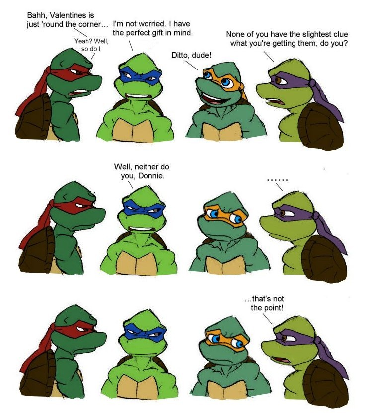 Valentines TMNT by Lily-pily