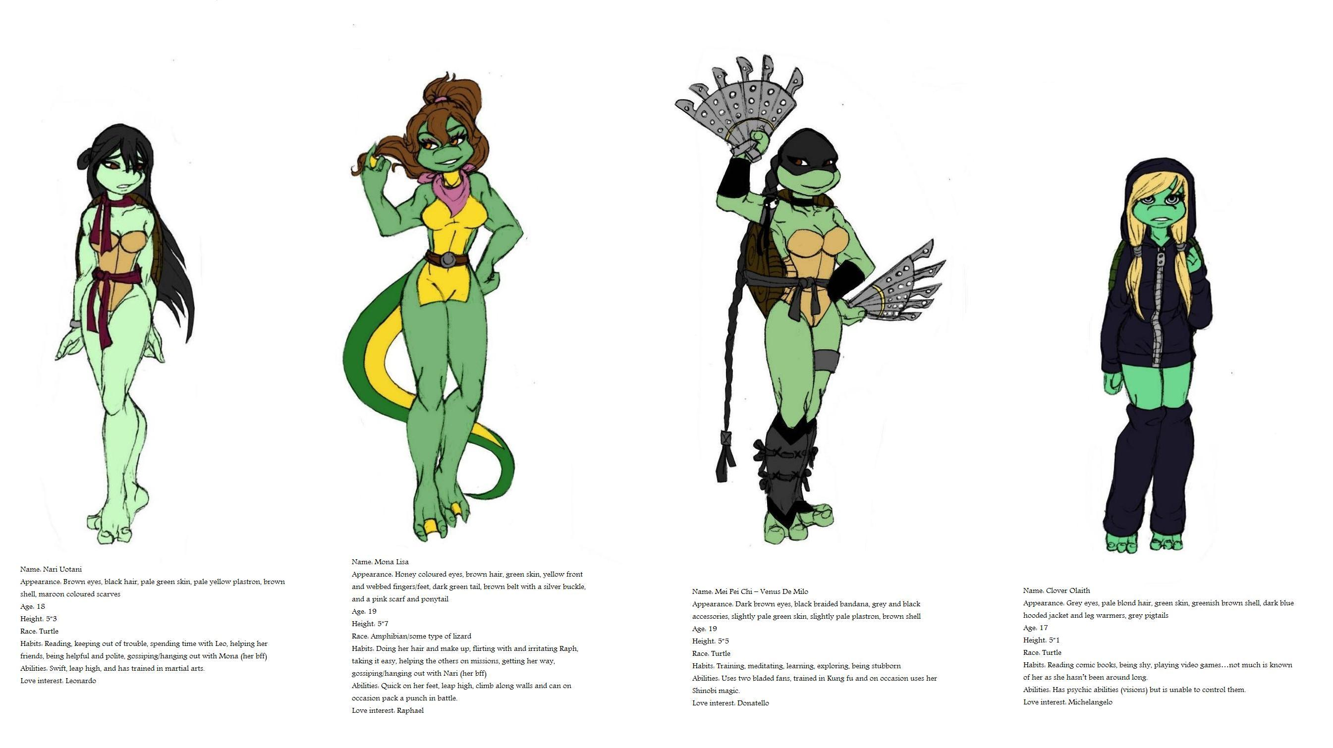 TMNT girls redone by Lily-pily on DeviantArt Teenage Mutant Ninja ...