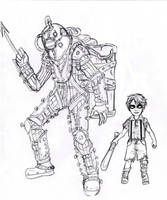 Little Brother digivolve into - Bioshock by Lily-pily