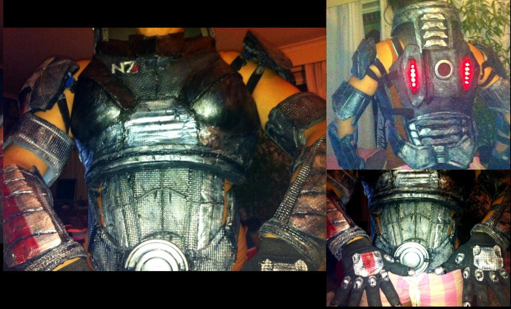 ME3 - Shepard armour progress by Lily-pily