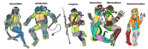 TMNT next gen bios by Lily-pily