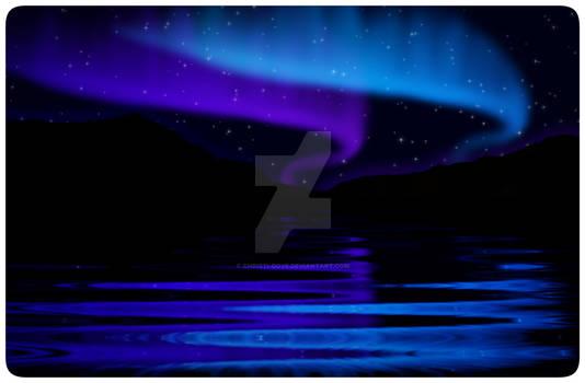 Blue and Purple Double Aurora