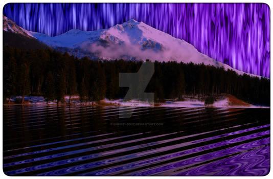 Taffy Sky Snowy Mountain