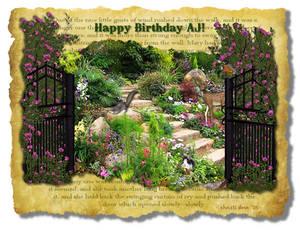 'The Secret Garden' Theme Birthday Card