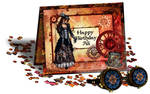Steampunk Birthday Card 2