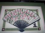 Cross-stitch: Oriental Fan