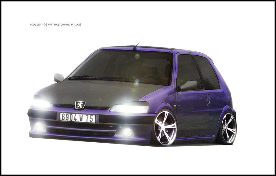 peugeot 106 virtual tuning by dax1988 on deviantart. Black Bedroom Furniture Sets. Home Design Ideas