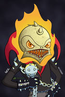 Ghost Roaster Rider by TheRandomGirlXD