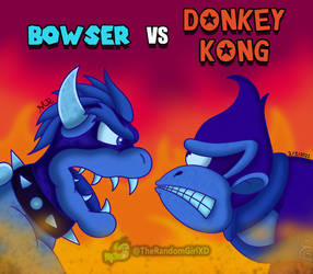 Bowser vs Donkey Kong (Godzilla vs Kong style)