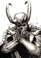 Skull Loki by ZeeMendoza