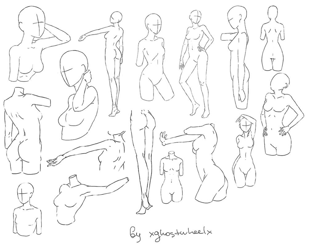 This is a photo of Rare Female Body Poses Drawing Reference