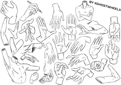 Hands and arms study - daily sketch