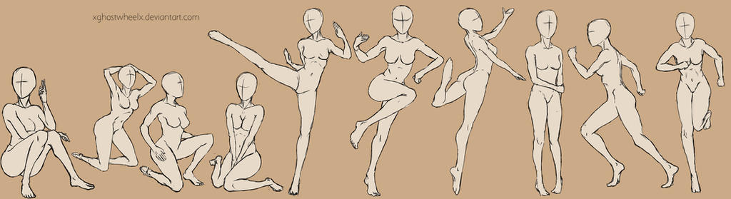 Female poses  - reference