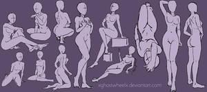 Pose study sketch by xghostwheelx