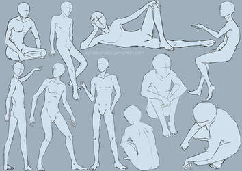 Male pose study - sketch by xghostwheelx