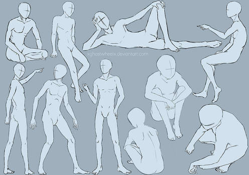 Male pose study - sketch