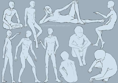 Male pose study - sketch