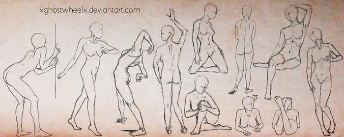 Female pose study - sketch