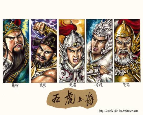 The Five Tiger Generals.