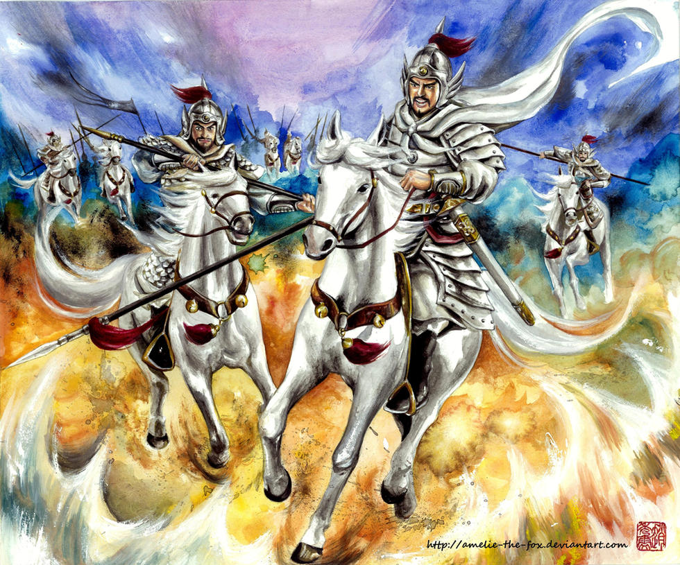 The White Cavalry Army by Amelie-the-Fox