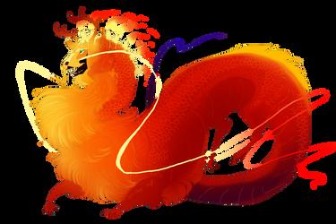 fire dragon adopt by Grimmla