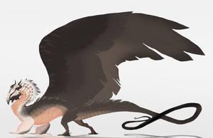 Bearded vulture dragon by Grimmla