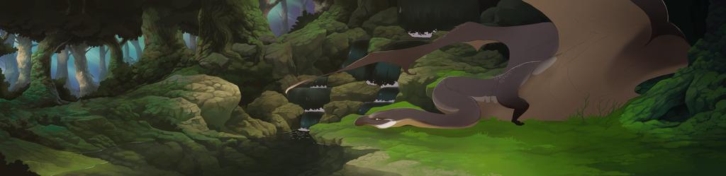 the dragon's pool by oukamiyoukai45
