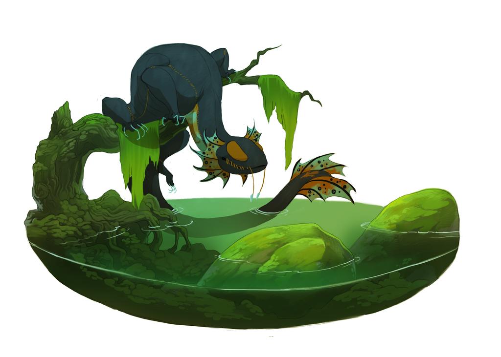 Swamp thing by oukamiyoukai45