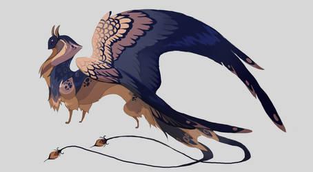Female swallow sphinx by Grimmla
