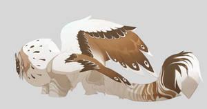 snowy sphinx by Grimmla