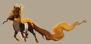 golden runner by Grimmla