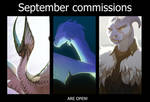 September commissions closed