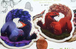 monster hunter world sticker reminder!