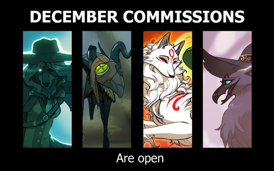 December commissions are closed