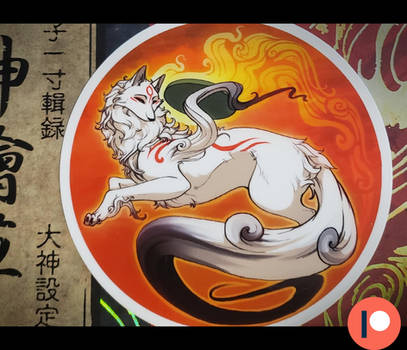 Okami stickers are in!