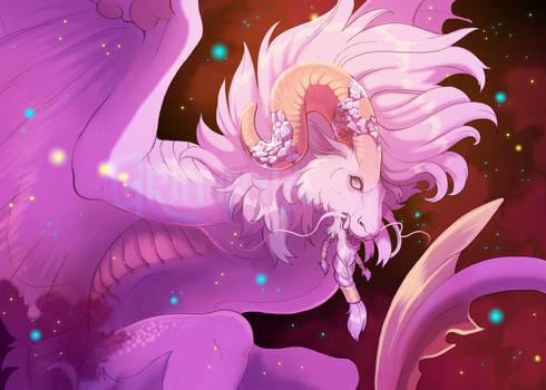 Aries dragon print