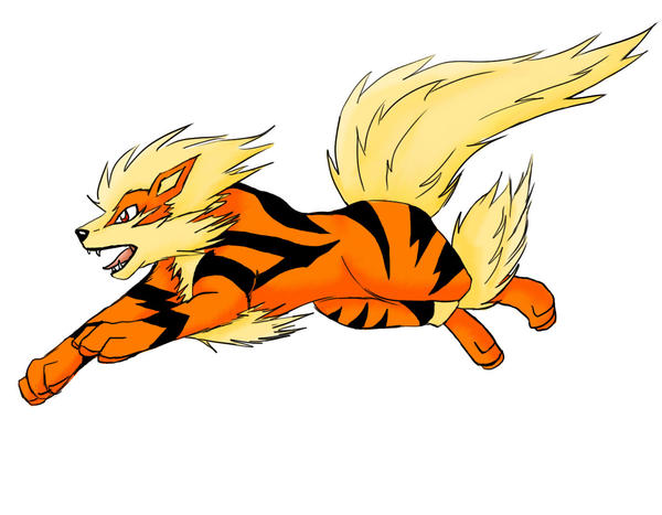 Arcanine Sketch for Nagikaze by enyce122