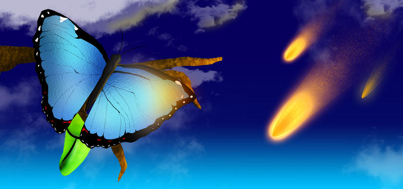 Butterfly at the end by enyce122