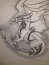 Lioness626 request sketch Dragon