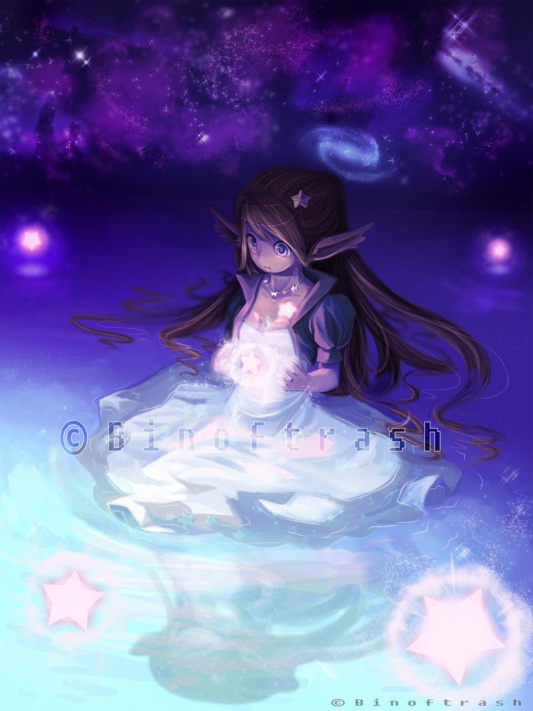 Wish upon a fallen star by binoftrash